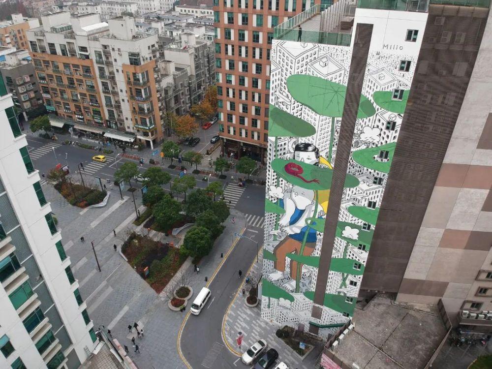 这个意大利人在上海创作了亚洲最高墙绘